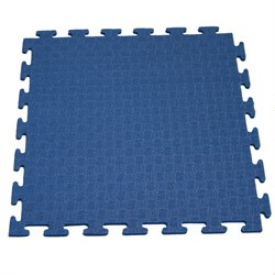 Мат - пазл для фитнесса и тренажеров DFC синий - фото 25242