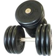 Комплект гантелей фиксированных MB «Проф» от 53,5 до 61 кг. черные