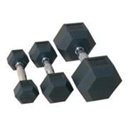Комплект гантелей «JOHNS» 72014 гексагональные от 22,5 до 30 кг