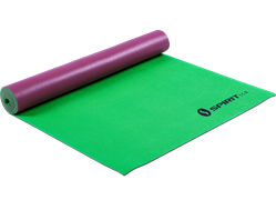 Коврик для йоги 5 мм бордово-зеленый Spirit Fitness