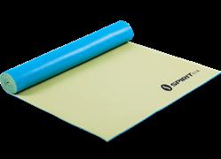 Коврик для йоги 5 мм желто-голубой Spirit Fitness