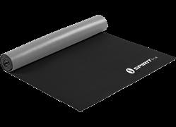 Коврик для йоги 6 мм серо-черный Spirit Fitness