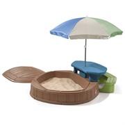Песочница со столиком Step-2