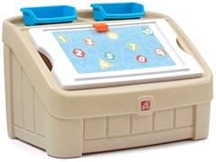 """Ящик для игрушек """"Два в одном"""" синий Step-2"""