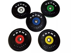 Диски бамперные Grome Fitness WP-080 от 5 до 25 кг в ассортименте