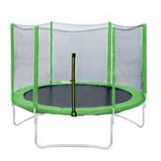 Батут DFC Trampoline Fitness 14 ft (427 см) green