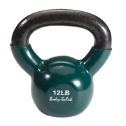 Гиря 5,4 кг (12lb) обрезиненная темно-зеленая
